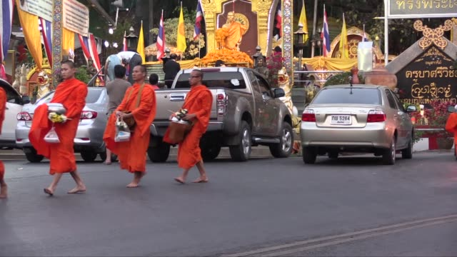 The practice of giving food to monks is called Tam Boon and it is collected at around 0600 Any food received must be eaten by noon as only water can...