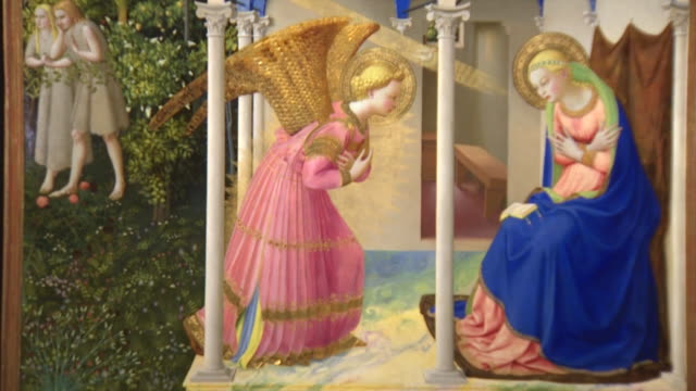 vidéos et rushes de the prado museum presents the exhibition 'fra angelico and the origin of the florentine renaissance' that displays more than 40 paintings one of the... - musée