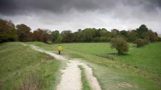 the prehistoric earth works around the stone circle at avebury, wiltshire, uk - avebury stock videos & royalty-free footage