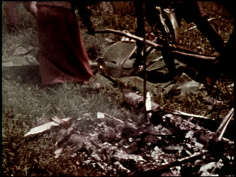 the preparation of food: from stone age to space age - 3 of 10 - see other clips from this shoot 2467 stock videos & royalty-free footage