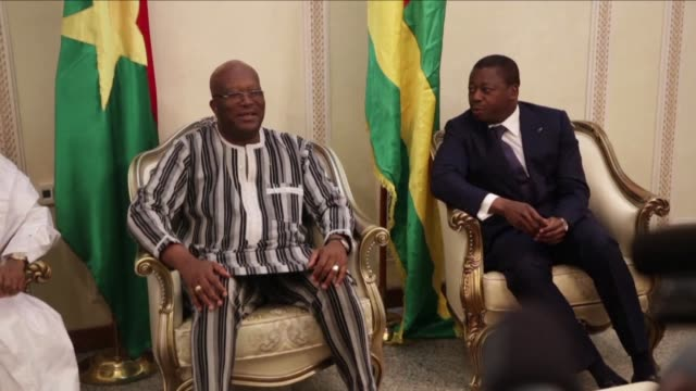 the president of niger mahamadou issoufou on monday reaffirmed the strength of the alliance of sahelian countries with france against terrorism... - mahamadou issoufou stock videos and b-roll footage