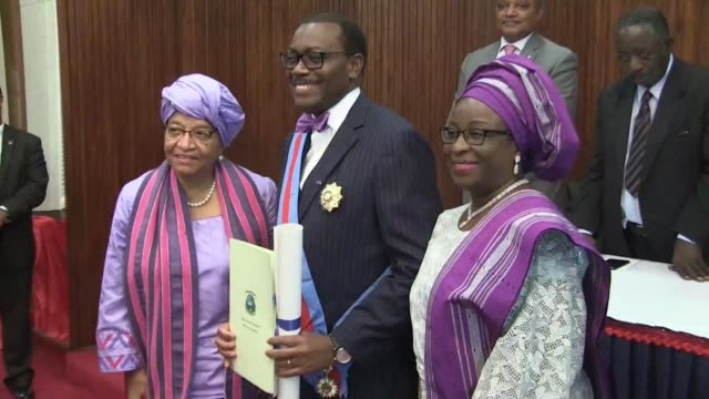 The President of the African Development Bank Akinwumi Adesina praises the visionary leadership legacy and many successes of outgoing Liberian...