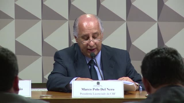 The president of the Brazilian Football Confederation Marco Polo Del Nero who faces corruption charges in the United States declared his innocence...