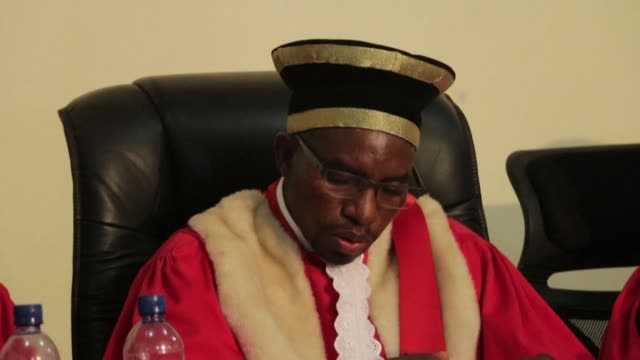 """the president of the constitutional court of burundi, charles ndagijimana, announces that """"no irregularities of such a nature as to call into... - verification stock videos & royalty-free footage"""