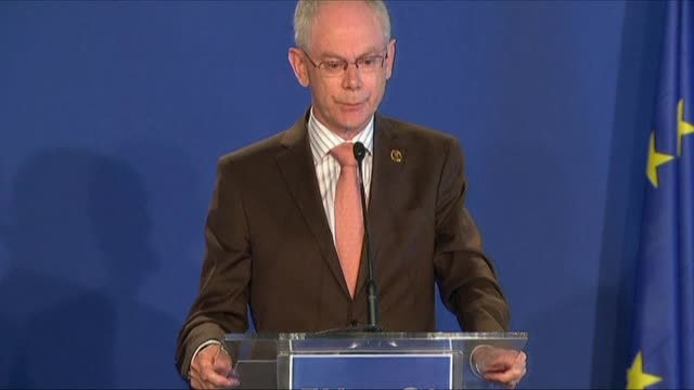 the president of the european union herman van rompuy has expressed support for christine lagarde's bid for the top job at the international monetary... - calvados stock videos and b-roll footage