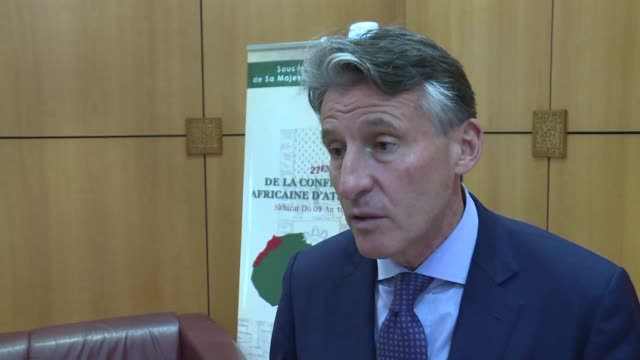 vídeos de stock, filmes e b-roll de the president of the international association of athletics federations sebastian coe said on wednesday in an interview with afp that he wished to... - sebastian coe
