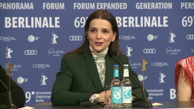 the president of the jury of the berlinale juliette binoche discusses the role of women directors in the festival this year - juliette binoche stock videos & royalty-free footage