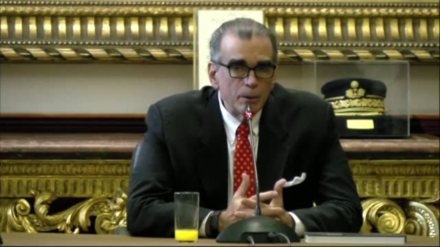 the president of the peruvian congress pedro olaechea holds a press conference a day after president martin vizcarra dissolved congress in a spat... - martín vizcarra stock videos & royalty-free footage