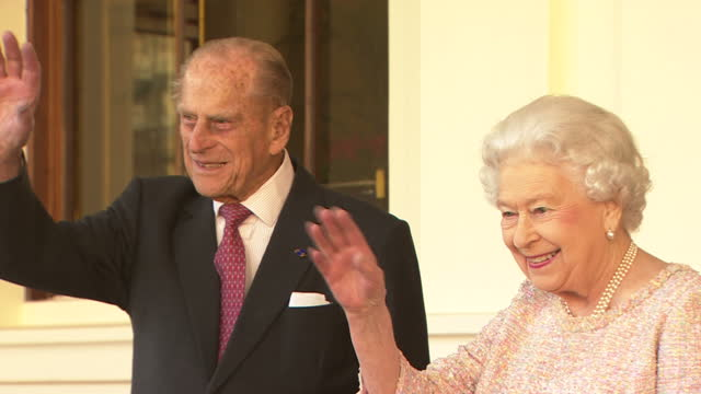 the president of the republic of colombia his excellency president juan manuel santos calderon is on a state visit to the united kingdom accompanied... - prince philip stock videos & royalty-free footage