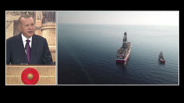 """the president of turkey on friday announced the discovery of major natural gas reserves in the black sea. """"turkey has made the biggest natural gas... - recep tayyip erdoğan stock videos & royalty-free footage"""