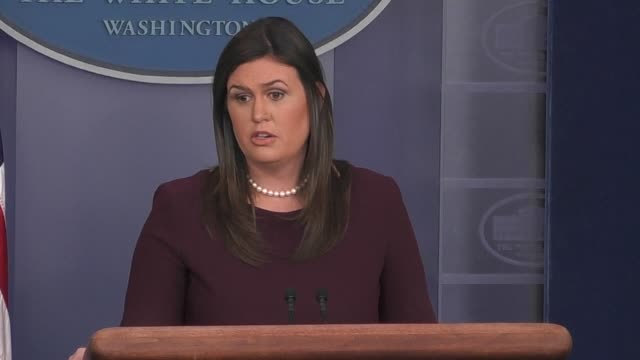 The President was stating facts says White House Press Secretary Sarah Sanders responding to questions from reporters following Mr Trump's comments...