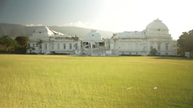 the presidential palace after the haiti earthquake in january 2010 - haiti stock videos & royalty-free footage