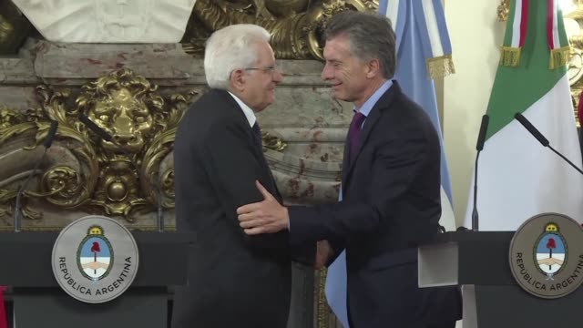 the presidents of argentina and italy mauricio macri and sergio mattarella expressed on monday their confidence in reaching an agreement between the... - mercosur stock videos & royalty-free footage