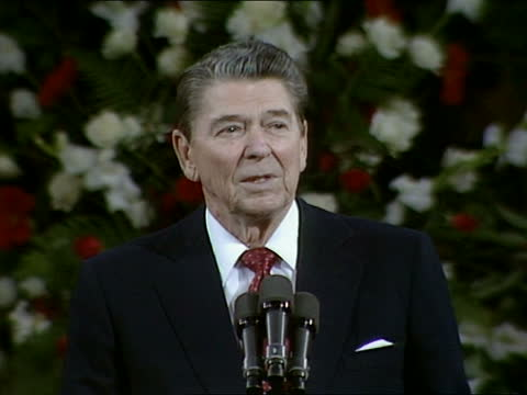 the presidents summit report: ronald reagan guildhall speech:; england: london: guildhall: int ronald reagan speech sot part 6 of 7. - it is well we... - other stock videos & royalty-free footage