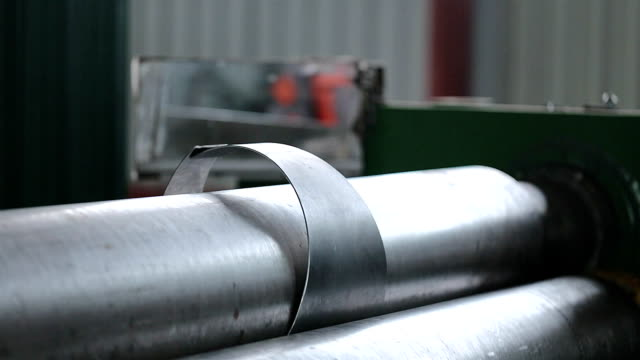 the press processes the metal workpiece. - sheet metal stock videos and b-roll footage
