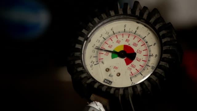 the pressure gauge signals the pressure