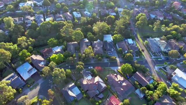 the prestige suburb of kew, melbourne - suburban stock videos and b-roll footage