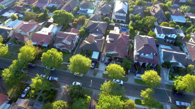 the prestige suburb of kew, melbourne - sunny stock videos & royalty-free footage