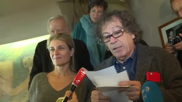 the prestigious french medicis literary prize was awarded to nathalie azoulai for titus did not love berenice editions pol in the french novel... - thursday stock videos & royalty-free footage