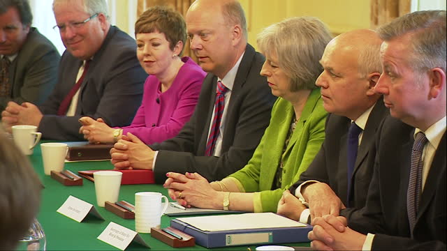 the prime minister held his first all-conservative cabinet meeting today following last week's election win. david cameron launched his new... - prime minister stock-videos und b-roll-filmmaterial