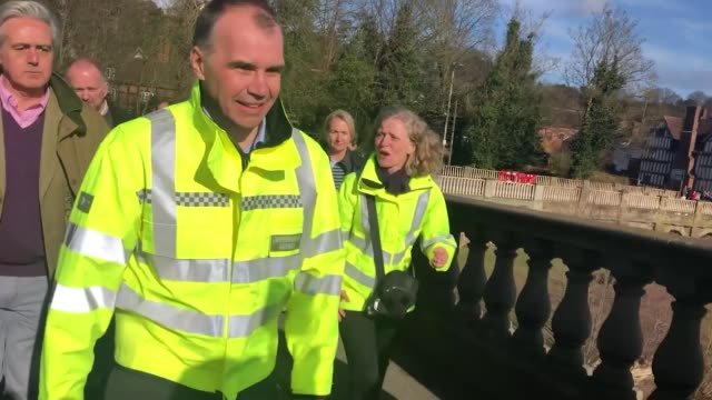 the prime minister visits people affected by severe weather in bewdley, worcestershire, following heavy criticism over his failure to make a trip... - handshake stock videos & royalty-free footage