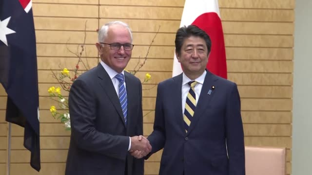 The prime ministers of Japan and Australia toured a military training ground outside Tokyo as the two countries seek to bolster defence ties in the...