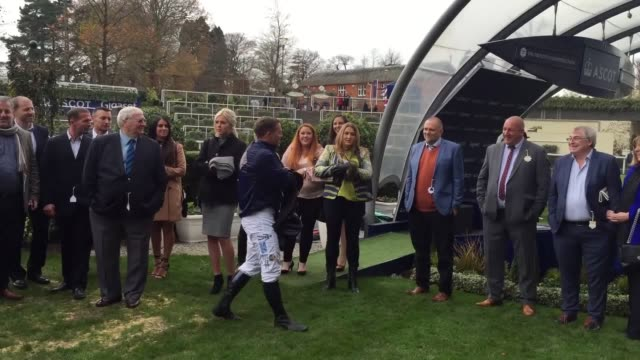 The Prince of Wales and Duchess of Cornwall spend the day at Ascot races in support of a fundraising event where celebrity jockeys compete The...