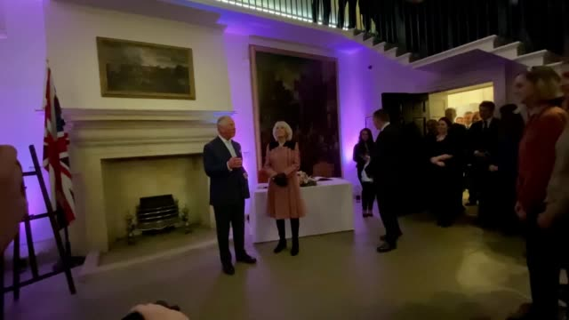 stockvideo's en b-roll-footage met the prince of wales has joked about politics whilst visiting the heart of government on the day of boris johnson's cabinet reshuffle. charles and the... - politics and government