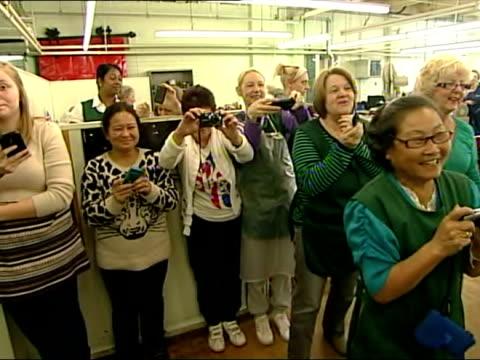 the prince of wales visits crockett & jones factory in northampton at crockett & jones on january 22, 2013 in northampton, england - northampton england stock videos & royalty-free footage