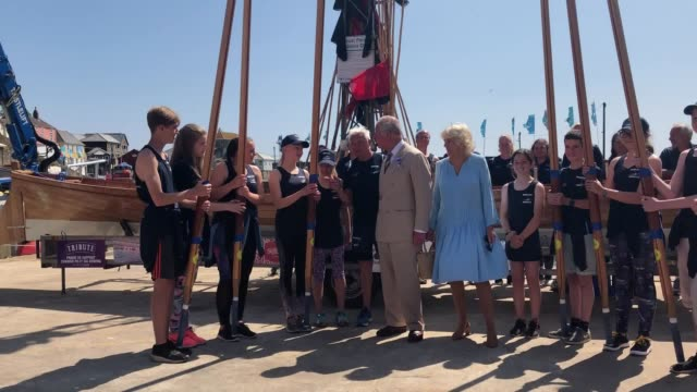 the prince of wales was cheered by villagers as he enjoyed a glass of rum at the start of his threeday tour of devon and cornwall with the duchess of... - rum stock videos and b-roll footage
