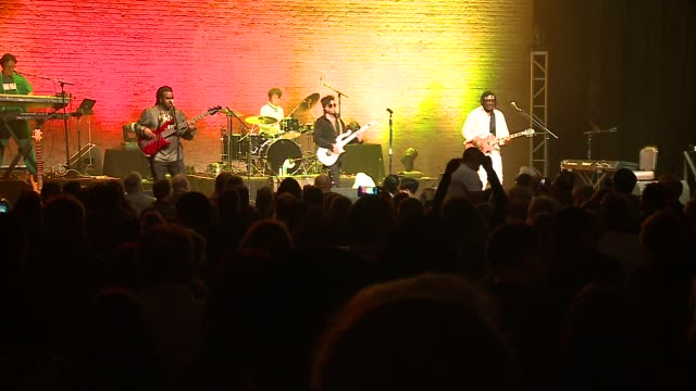 the prince tribute band called the purple xperience played to a sold-out crowd at the arcada theater in the chicago area on april 22, 2016. - prince stock videos & royalty-free footage