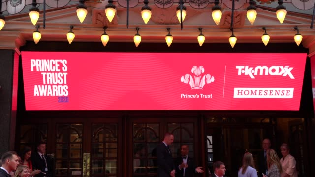 the princes trust and tkmaxx & homesense awards at london palladium on march 11, 2020 in london, england. - event stock videos & royalty-free footage