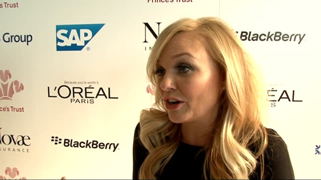 the prince's trust celebrate success awards 2012 celebrity interviews emma bunton interview sot on prince's trust / on being a spice girl / on spice... - spice girls stock videos & royalty-free footage