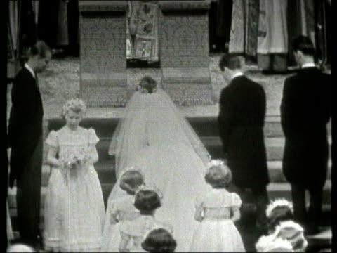 the princess anne collection 1 651960 princess margaret marries anthony armstrongjones margaret arrival along aisle bridesmaid princess anne... - bridesmaid stock videos and b-roll footage