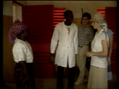 The Princess Anne collection 2 VARIOUS Anne in Ulster carrying out investiture security plating tree Gambia visit with doctors lepers at school in...