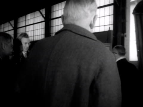 the princess royal and the duke and duchess of windsor walk along the gangway to board their ship for the journey to england 1953 - wallis simpson stock videos & royalty-free footage
