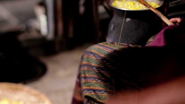 the process of making silk fibers - silk stock videos & royalty-free footage