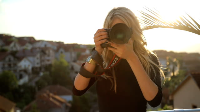 the professional photographer - photographing stock videos & royalty-free footage