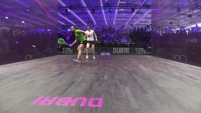 vídeos de stock e filmes b-roll de the professional squash association world series finals started tuesday in dubai the tours flagship event having been revived after a two year absence - tennis dubai