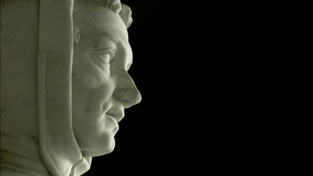 the profile of a stone statue of italian mathematician leonardo fibonacci, pisa. available in hd. - mathematician stock videos & royalty-free footage