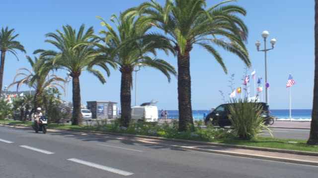 the promenade des anglais - man made object stock videos & royalty-free footage