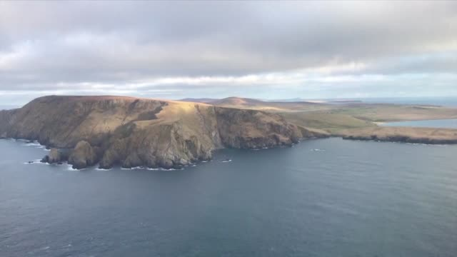 the prospect of a new bid for scottish independence as britain leaves the eu is making some residents of the shetland islands in the north atlantic... - north atlantic ocean stock videos & royalty-free footage