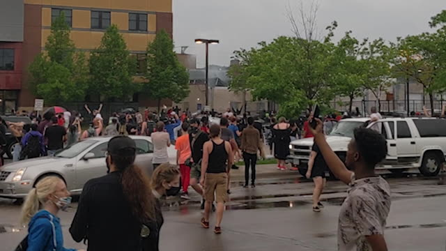 the protest included tense confrontations with police, who responded with tear gas. - minnesota stock videos & royalty-free footage