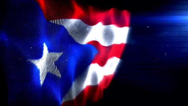 The Puerto Rican Flag - Background Loop (Full HD)
