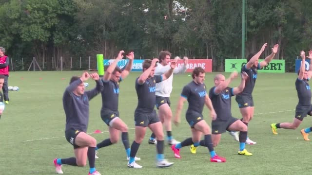 The Pumas the Argentine national rugby team trained on Tuesday outside of Buenos Aires ahead of the friendly game against the Springboks on Saturday