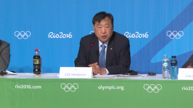 the pyeongchang 2018 winter games will be open to all participants who respect peace olympics including north korea says the president of the event - südkorea stock-videos und b-roll-filmmaterial