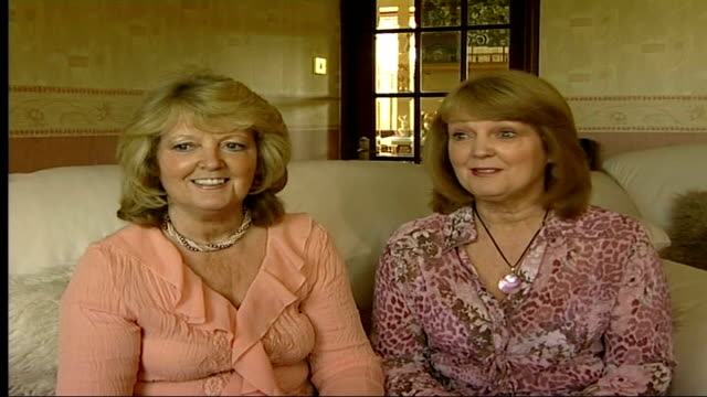twins sheila fenwick and anne granville; england: int shelia granville interview sot - mini skirts were in in the 1970's/ i can't believe we had out... - skirt stock videos & royalty-free footage
