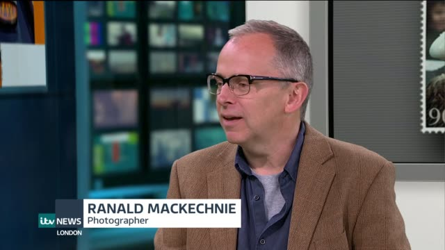 four generations photographed for celebration stamps; england: london: ext ranald mackechnie live studio interview sot - ニナ・ホサイン点の映像素材/bロール