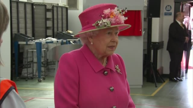 'The Queen at 90' Post Office visit Berkshire Windsor Queen visiting Royal Mail premises