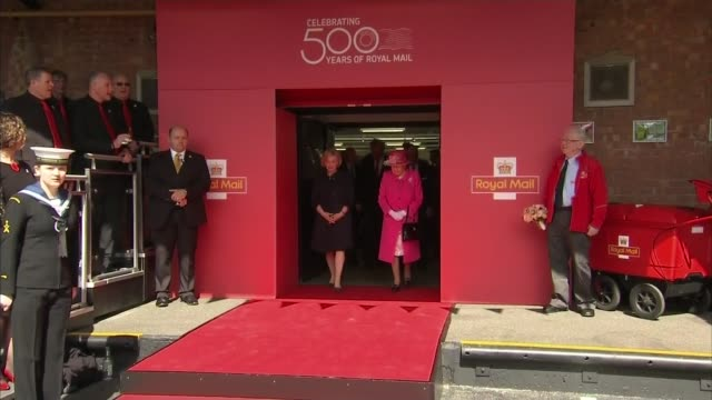 'The Queen at 90' Post Office visit Queen leaving Royal Mail offices that she visited as part of the celebration of the 500th anniversary of the...